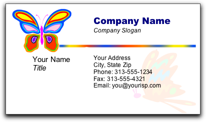 Samples of business cards reheart Images