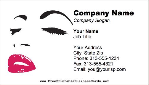 beauty salon makeup business card this printable business card with a