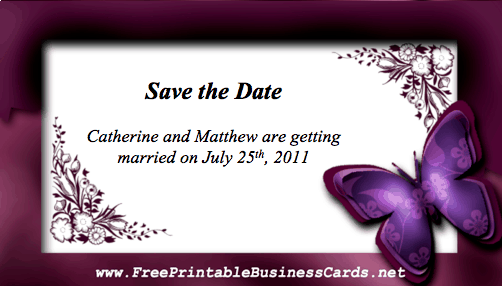 Free Printable Save Date Cards