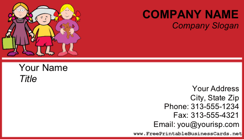 Sample Tutor Business Cards http://www.freeprintablebusinesscards.net/showcover/ChildCare2