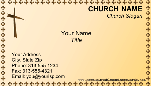 church connection card template free