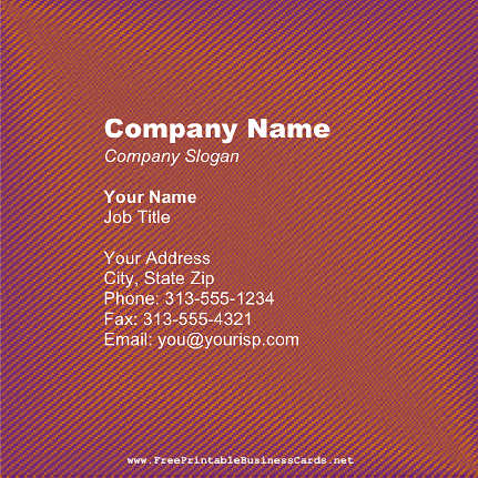 Stitched Texture business card