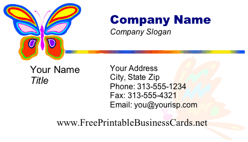 Butterfly business card Design business cards online free print home