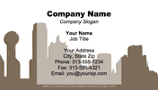 Dallas Skyline business card