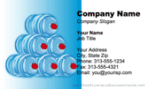 Water Jugs business card