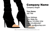 Women's Shoes business card